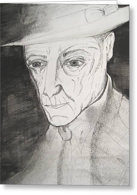 William S. Burroughs Greeting Card by Darkest Artist