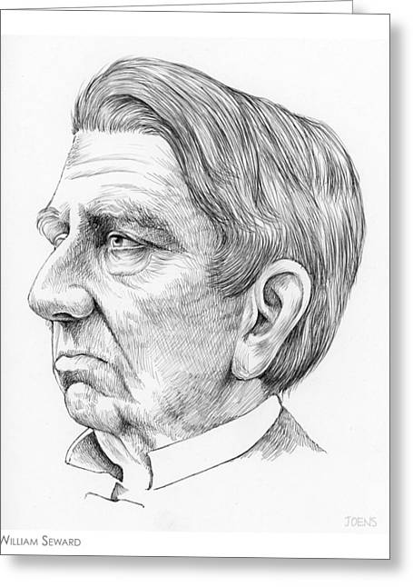William Seward Greeting Card by Greg Joens