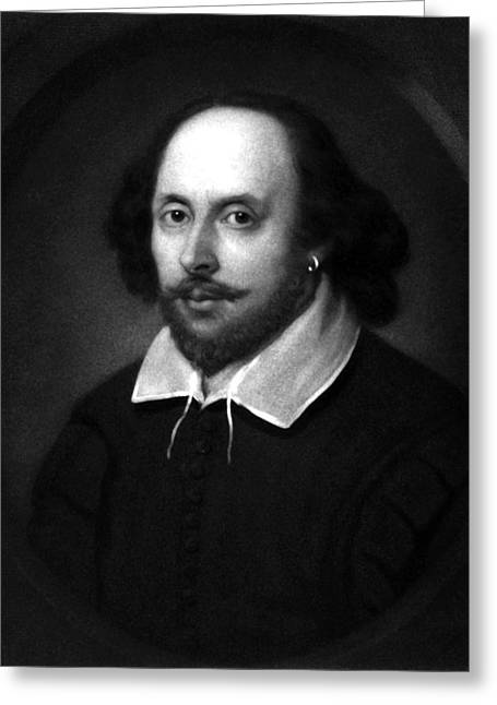 Williams Greeting Cards - William Shakespeare Greeting Card by War Is Hell Store