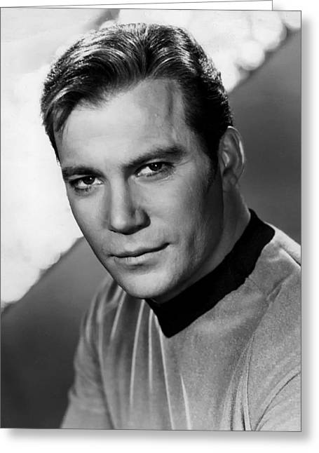 Shatner Greeting Cards - William Shatner as Captain Kirk 1967 Greeting Card by Nbc