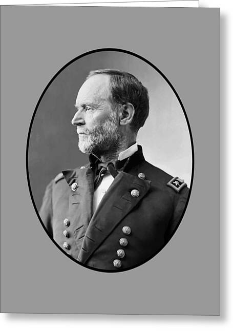 Civil Greeting Cards - William Tecumseh Sherman Greeting Card by War Is Hell Store