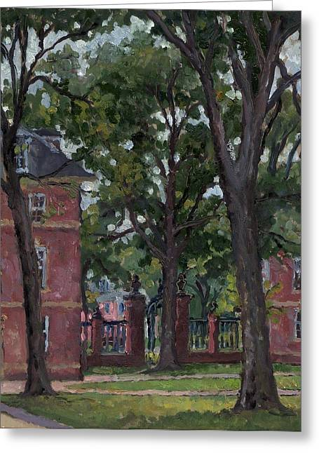 Liberal Paintings Greeting Cards - Williams College Frosh Quad Greeting Card by Thor Wickstrom