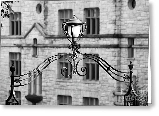 Williams College Hopkins Gate Detail Greeting Card by University Icons