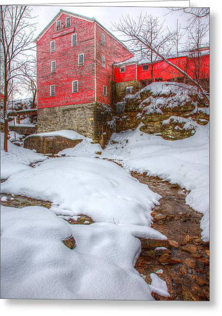 Glen Creek Greeting Cards - Williams Water Mill Greeting Card by James Marvin Phelps