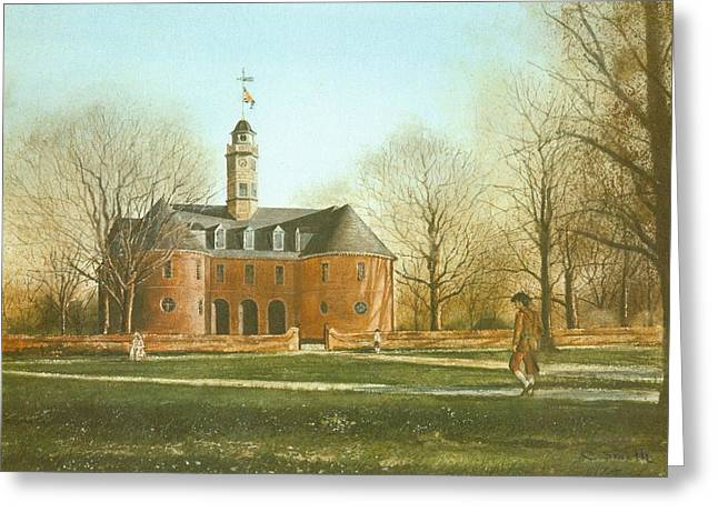 Williamsburg Capital Greeting Card by Charles Roy Smith