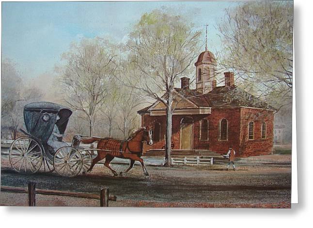 Williamsburg Courthouse Greeting Card by Charles Roy Smith