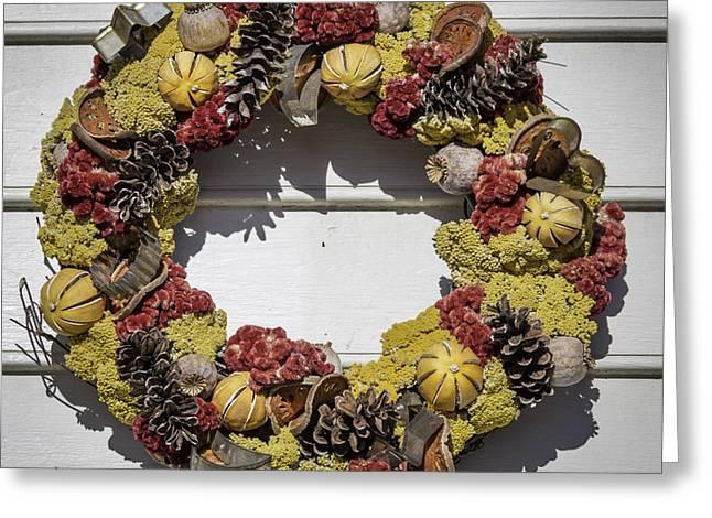 Williamsburg Wreath 29 Greeting Card by Teresa Mucha
