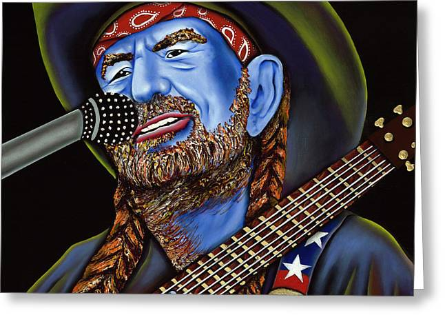 Nannette Harris Greeting Cards - Willie Greeting Card by Nannette Harris