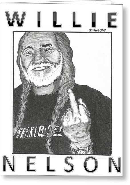 Dukes Of Hazard Greeting Cards - Willie Nelson Greeting Card by Jeremy Waters