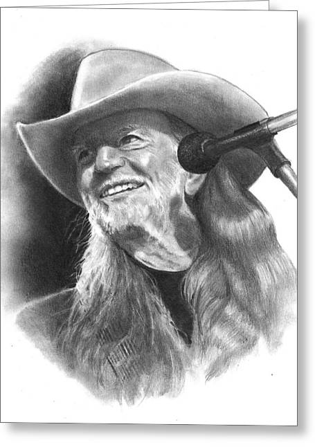 Joyce Geleynse Greeting Cards - Willie Nelson Greeting Card by Joyce Geleynse