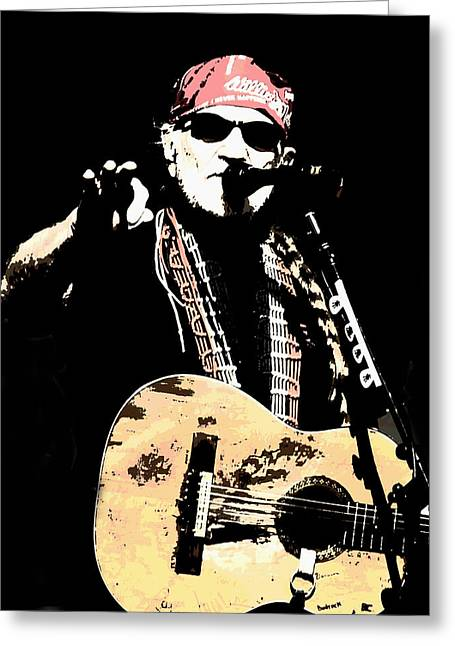 Lyle Huisken Greeting Cards - Willie Nelson Greeting Card by Lyle  Huisken