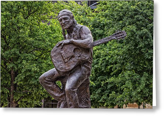 Icon Sculptures Greeting Cards - Willie Nelson Sculpture - Austin Texas Greeting Card by Mountain Dreams