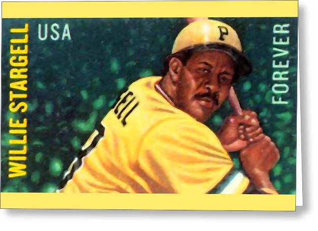 Batter Paintings Greeting Cards - Willie Stargell Greeting Card by Lanjee Chee