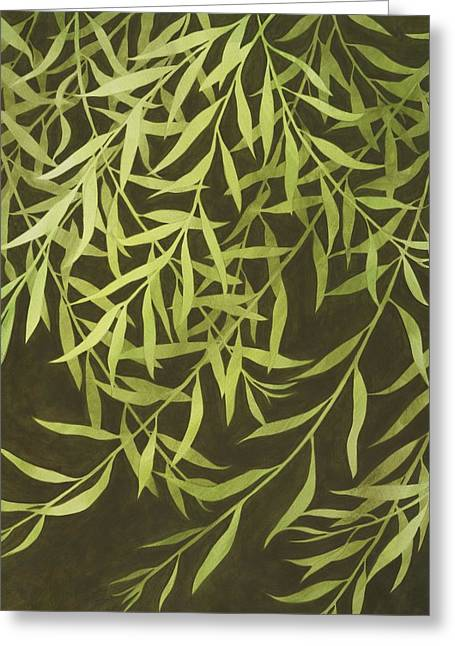 Recently Sold -  - Weeping Greeting Cards - Willow Branches Greeting Card by Kathy Moon