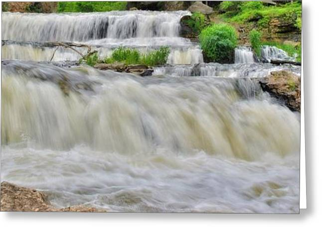 Willow Lake Greeting Cards - Willow River Falls 6 Greeting Card by Todd and candice Dailey