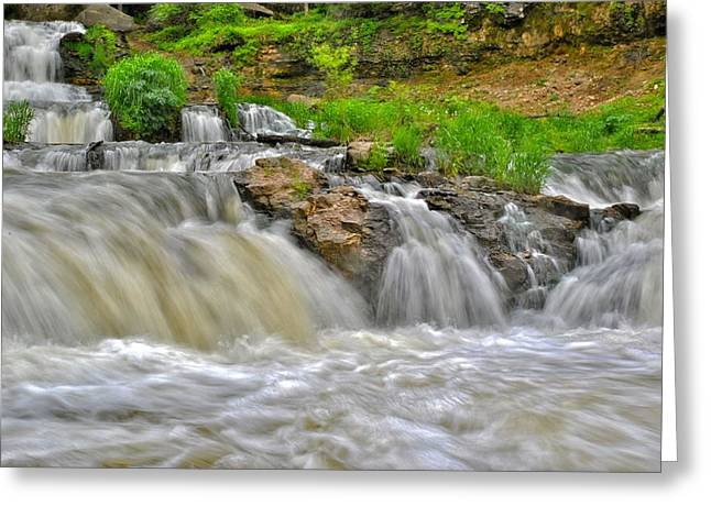 Willow Lake Greeting Cards - Willow River Falls Greeting Card by Todd and candice Dailey