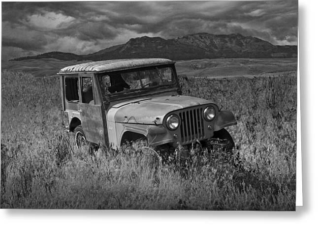 D.w Greeting Cards - Willy Jeep in Montana Greeting Card by Randall Nyhof