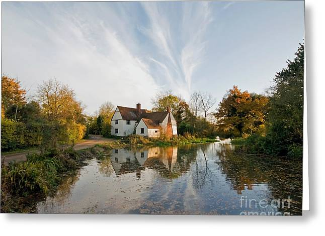 Willy Lott's Cottage Greeting Card by Nigel Bangert
