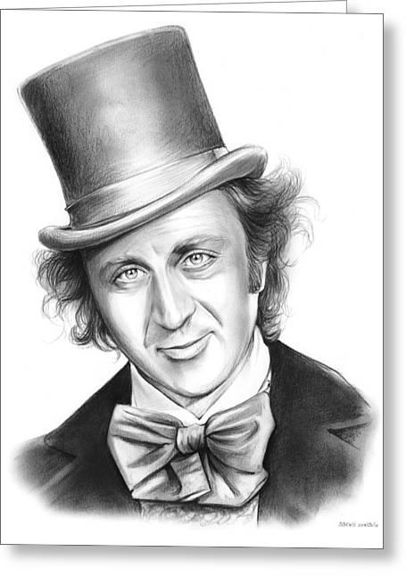 Willy Wonka Greeting Card by Greg Joens