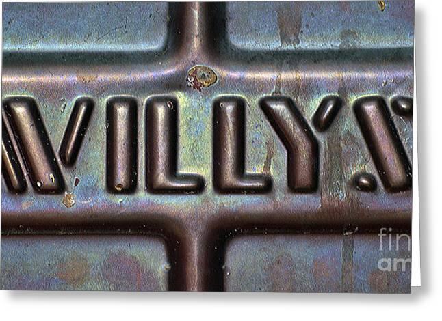 Juls Adams Greeting Cards - Willys Greeting Card by Juls Adams