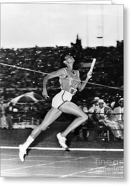 Footrace Greeting Cards - Wilma Rudolph (1940-1994) Greeting Card by Granger