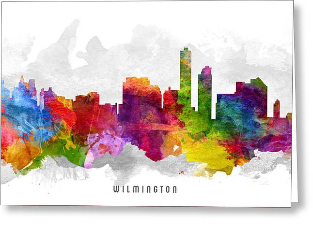Wilmington Greeting Cards - Wilmington Delaware Cityscape 13 Greeting Card by Aged Pixel