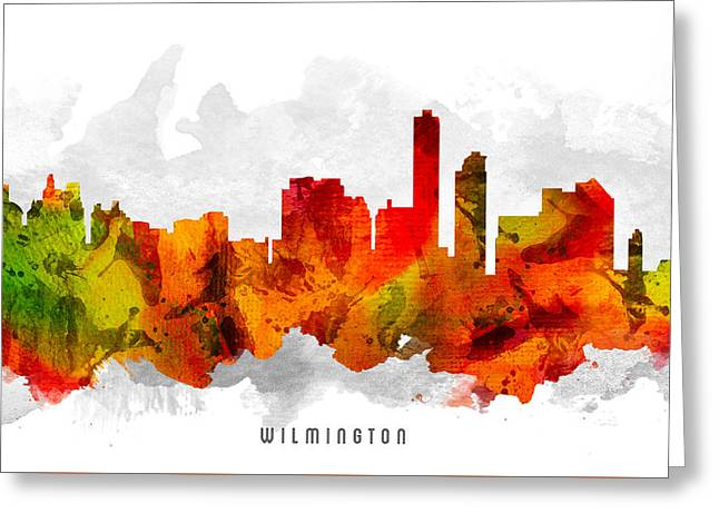 Wilmington Greeting Cards - Wilmington Delaware Cityscape 15 Greeting Card by Aged Pixel