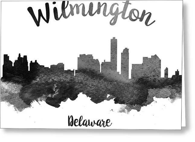 Wilmington Greeting Cards - Wilmington Delaware Skyline 18 Greeting Card by Aged Pixel