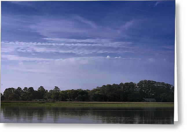 Bonaventure Greeting Cards - Wilmington River Savannah Morning Greeting Card by Joan Carroll