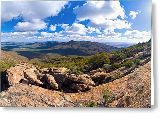 Greeting Cards - Wilpena Pound and St Mary Peak Greeting Card by Bill  Robinson