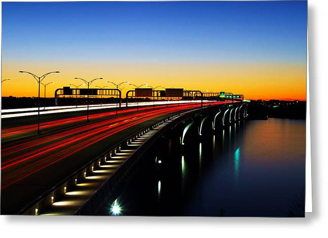 Wilson Bridge Greeting Card by Mitch Cat