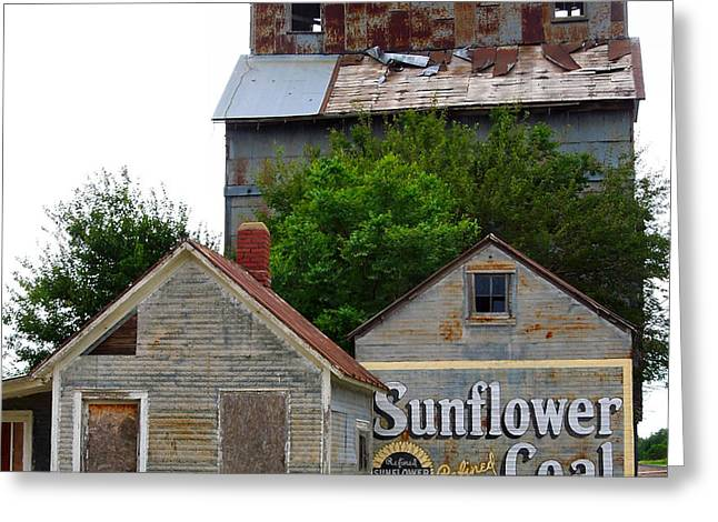 Wilson Kansas Grain Mill #1 Greeting Card by Lynne and Don Wright