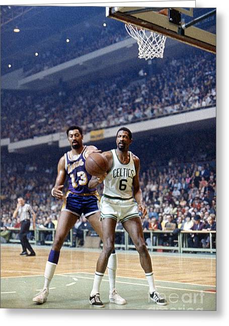 Boston Garden Greeting Cards - Wilt Chamberlain (1936-1999) Greeting Card by Granger