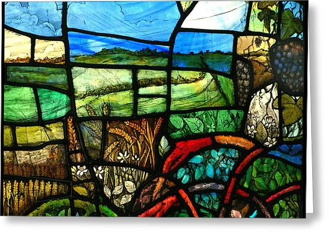 Landscapes Glass Greeting Cards - Wiltshire landscape detail Greeting Card by Andrew Taylor
