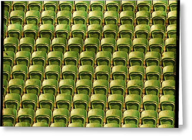 Wimbledon Greeting Cards - Wimbledon Seats Greeting Card by Sonia Stewart