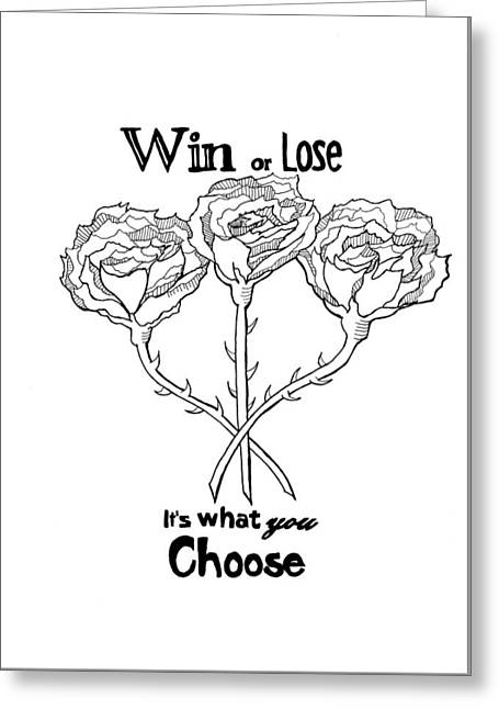 Win Or Lose? Greeting Card by Isabel Proffit