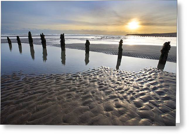 Sussex Greeting Cards - Winchelsea Beach at Dusk Greeting Card by © Simon Kayne