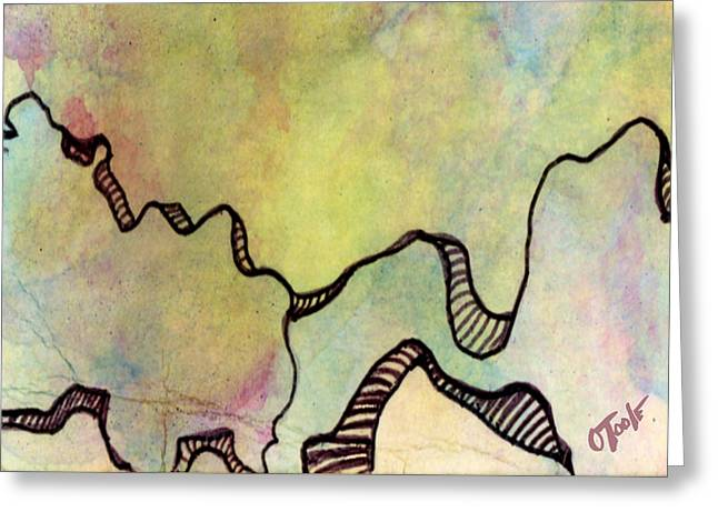 Abstract Expression Greeting Cards - Wind Carved Bridge Greeting Card by Ken OToole
