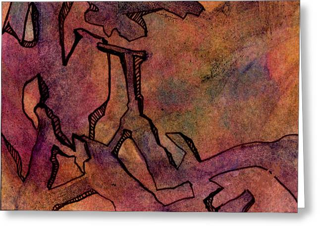 Abstract Expression Greeting Cards - Wind Carved Cathedral Greeting Card by Ken OToole