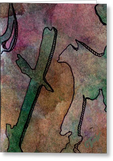 Abstract Expression Greeting Cards - Wind Carved Epitaph Greeting Card by Ken OToole