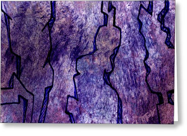 Abstract Expression Greeting Cards - Wind Carved Totems Greeting Card by Ken OToole