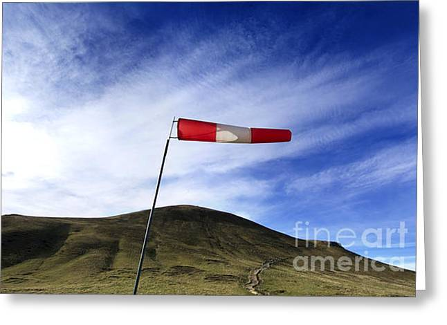 Stripes. Blowing Greeting Cards - Wind direction. France. Greeting Card by Bernard Jaubert