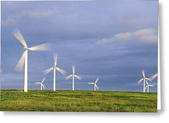 Rotation Greeting Cards - Wind Farm, Scotland Greeting Card by Duncan Shaw
