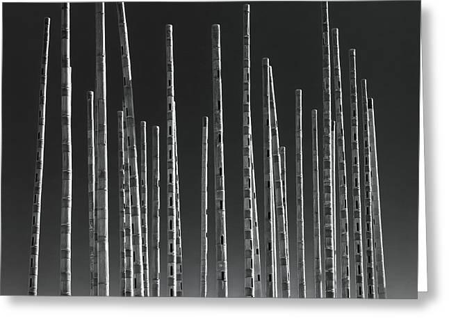 Wind Organ Greeting Card by Wim Lanclus