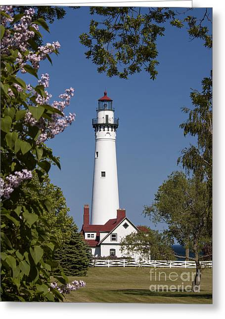 Wind Point Lighthouse - D009826 Greeting Card by Daniel Dempster