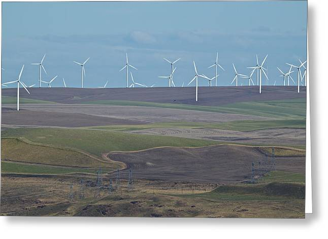 Rotation Greeting Cards - Wind Power 10 Greeting Card by Todd Kreuter