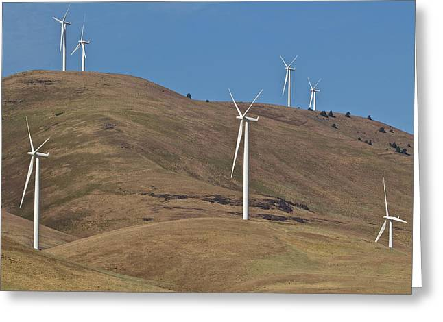 Rotation Greeting Cards - Wind Power 6 Greeting Card by Todd Kreuter