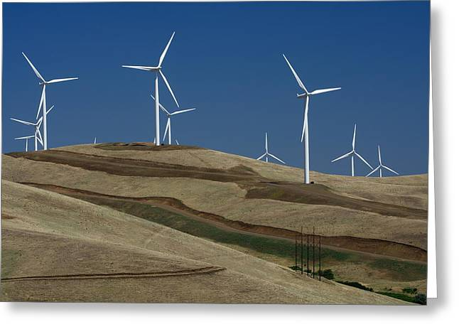 Rotation Photographs Greeting Cards - Wind Power Greeting Card by Todd Kreuter