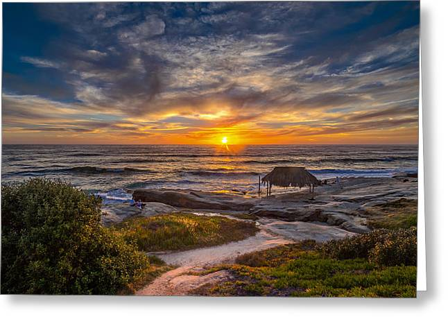 La Jolla Surfers Greeting Cards - Windansea Greeting Card by Peter Tellone
