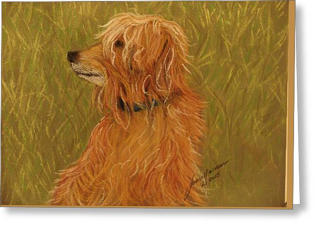 Toy Dog Greeting Cards - Windblown Renard Greeting Card by Joan Mansson